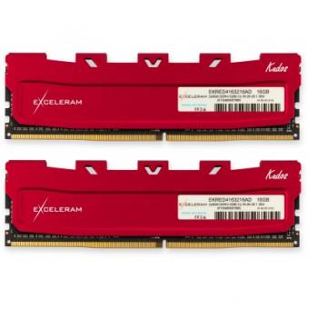 Изображение Модуль памяти для компьютера Exceleram DDR4 16GB (2x8GB) 3200 MHz Kudos Red  (EKRED4163216AD)