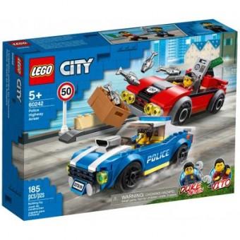 Зображення Конструктор Lego Конструктор  City Police Арест на шоссе 185 деталей (60242)