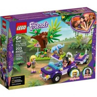 Зображення Конструктор Lego Конструктор  Friends Джунгли: спасение слонёнка 203 детали (41421)