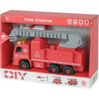 Зображення Конструктор  Конструктор  Пожарная машина с лестницей, разборная модель с отверт (KL802-1)