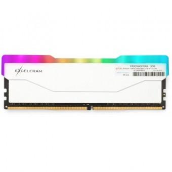 Зображення Модуль пам'яті для комп'ютера Exceleram DDR4 8GB 3000 MHz RGB X2 Series White  (ERX2W408306A)