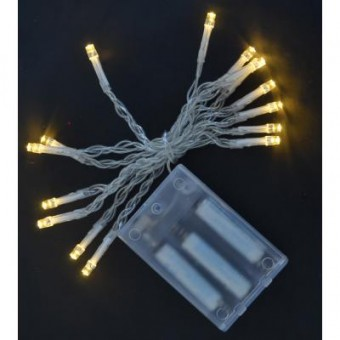 Зображення Гірлянда YES! Fun 15 LED лампочек, молочно-белая, 1,6 м (801126)