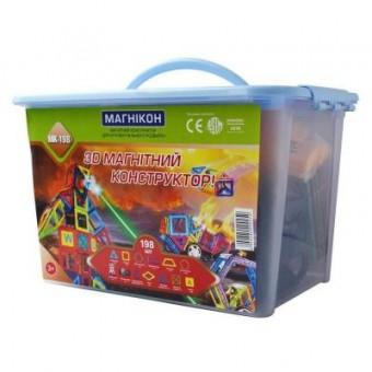 Зображення Конструктор Магнікон Конструктор  198 деталей Plastic box (MK-198)