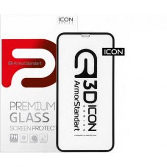 Изображение Защитное стекло Armorstandart Icon 3D Apple iPhone 12 Pro Max Black (ARM57194)