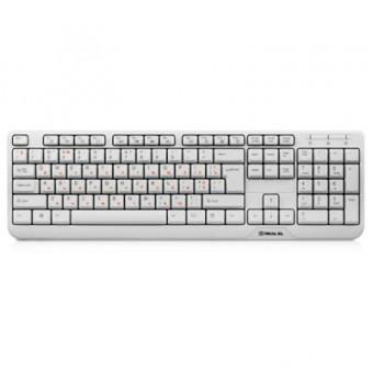 Изображение Клавиатура REAL-EL 500 Standard, USB, white