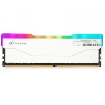 Зображення Модуль пам'яті для комп'ютера Exceleram DDR4 16GB 3200 MHz RGB X2 Series White  (ERX2W416326C)