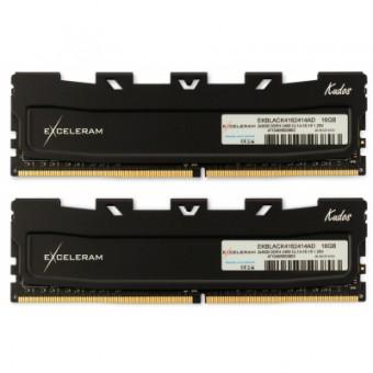 Изображение Модуль памяти для компьютера Exceleram DDR4 16GB (2x8GB) 3200 MHz Kudos Black  (EKBLACK4163216AD)