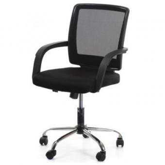Зображення Офісне крісло Office4You VISANO, Black/Chrome (000002720)