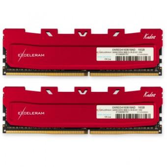 Изображение Модуль памяти для компьютера Exceleram DDR4 16GB (2x8GB) 3600 MHz Red Kudos  (EKRED4163618AD)