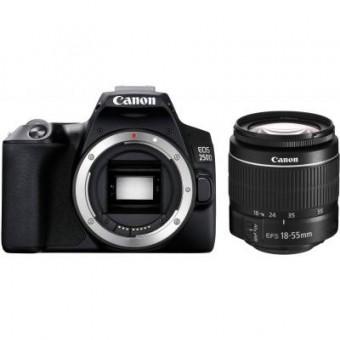 Изображение Цифровая фотокамера Canon EOS 250D 18-55 DC III Black kit (3454C009)