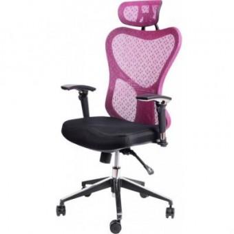 Зображення Офісне крісло Barsky Butterfly Black/Bordo (Fly-02)