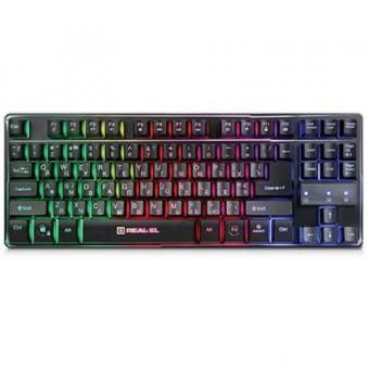 Изображение Клавиатура REAL-EL 8710 Gaming TKL Backlit, black