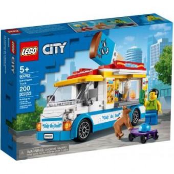 Изображение Конструктор Lego  City Great Vehicles Грузовик мороженщика 200 деталей (60253)
