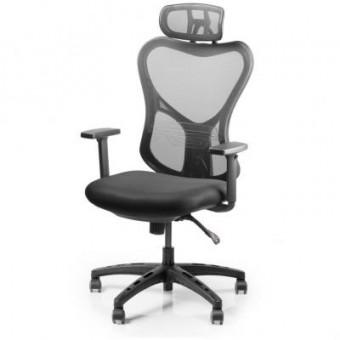 Зображення Офісне крісло Barsky Butterfly White/Black (Fly-03)