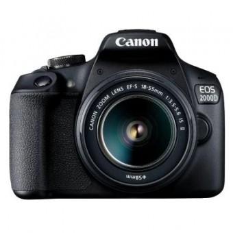 Зображення Цифрова фотокамера Canon EOS 2000D 18-55 IS II kit (2728C008)