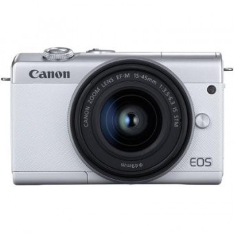 Зображення Цифрова фотокамера Canon EOS M200   15-45 IS STM White (3700C032)