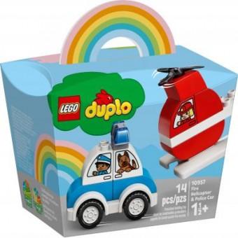 Зображення Конструктор Lego Конструктор  DUPLO My First Пожарный вертолет и полицейская машина (10957)