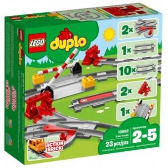 Зображення Конструктор Lego  DUPLO Town Рельсы 23 деталей (10882)