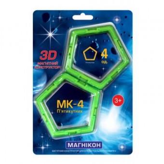Изображение Конструктор Магнікон Конструктор  Дополнительный набор пятиугольник, 4 шт. (MK-4-5У)
