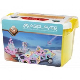 Зображення Конструктор Magplayer Конструктор  магнитный набор бокс 95 эл. (MPT2-95)