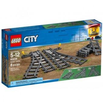 Зображення Конструктор Lego  City Железнодорожные стрелки 8 деталей (60238)