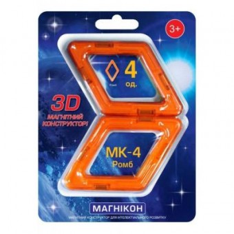 Изображение Конструктор Магнікон Конструктор  Дополнительный набор ромб, 4 шт. (MK-4-РБ)