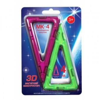 Изображение Конструктор Магнікон Конструктор  Дополнительный набор равнобедренный треугольник, 4 шт. (MK-4-РТ)
