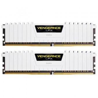 Зображення Модуль пам'яті для комп'ютера CORSAIR DDR4 16GB (2x8GB) 3200 MHz LPX White  (CMK16GX4M2B3200C16W)