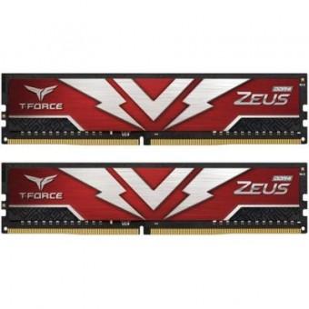 Изображение Модуль памяти для компьютера Team DDR4 16GB (2x8GB) 3200 MHz T-Force Zeus Red  (TTZD416G3200HC20DC01)