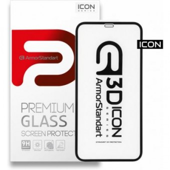 Изображение Защитное стекло Armorstandart Icon 3D Apple iPhone 11/XR Black (ARM55979-GI3D-BK)