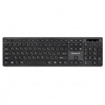 Изображение Клавиатура REAL-EL 7080 Comfort, USB, black