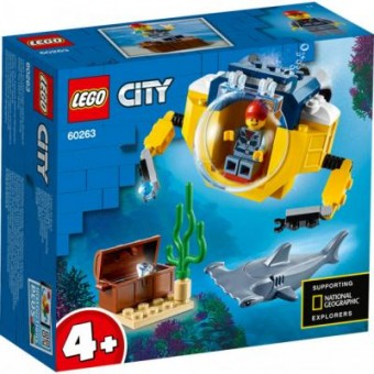 Зображення Конструктор Lego Конструктор  City Океан: мини-подлодка 41 деталь (60263)