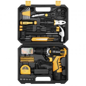 Изображение Шуруповерт DEKO DKCD12FU-LI   набор 104 инструментов в кейсе