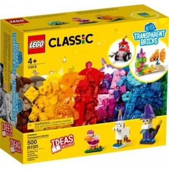Изображение Конструктор Lego Конструктор  Classic Прозрачные кубики для творчества 500 деталей (11013)