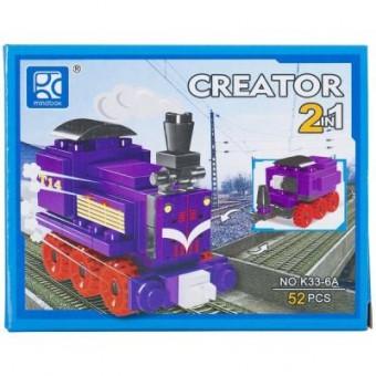 Изображение Конструктор Mindbox Конструктор  CREATOR TRAIN 2in1 в ассорт. (K33A)