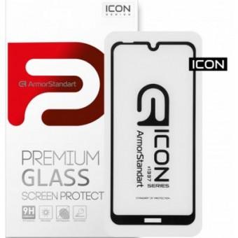 Изображение Защитное стекло Armorstandart Icon Nokia 2.2 Black (ARM55836-GIC-BK)