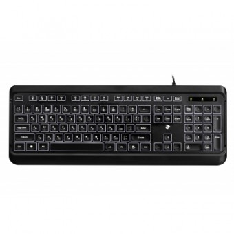Изображение Клавиатура 2E KS120 White backlight USB Black (-KS120UB)