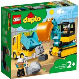 Зображення Конструктор Lego Duplo Town Грузовик и гусеничный экскаватор 20 деталей (10931)