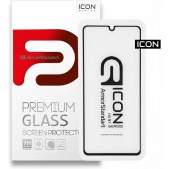 Изображение Защитное стекло Armorstandart Icon Samsung A41 Black (ARM56242-GIC-BK)