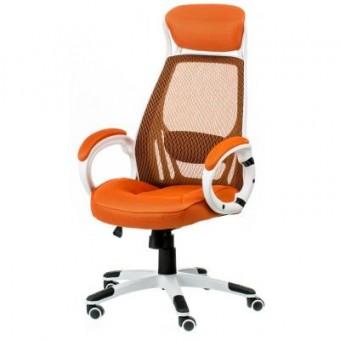 Изображение Офисное кресло Special4You Briz orange/white (000002193)