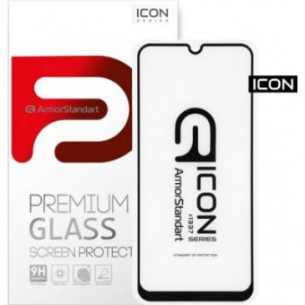 Изображение Защитное стекло Armorstandart Icon Samsung M31 Black (ARM56218-GIC-