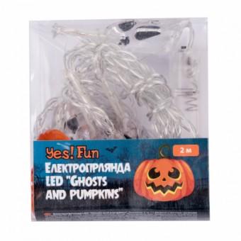 Изображение Гирлянда YES! Fun Хэллоуин Ghosts and Pumpkins, LED, 11 фигурок, 2 м (801176)