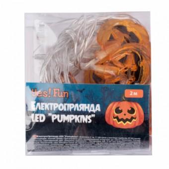 Изображение Гирлянда YES! Fun Хэллоуин Pumpkins, LED 11 фигурок, 2 м (801177)