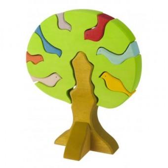 Зображення Конструктор nic Конструктор  деревянный Дерево с птицами светлое (NIC523097)