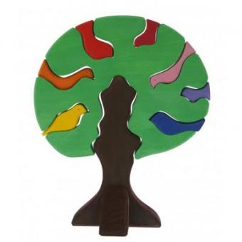 Изображение Конструктор nic Конструктор  деревянный Дерево с птицами темное (NIC523098)