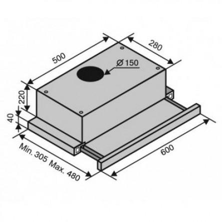 Зображення Витяжки Ventolux Garda 60 BK 1100 SMD LED - зображення 7