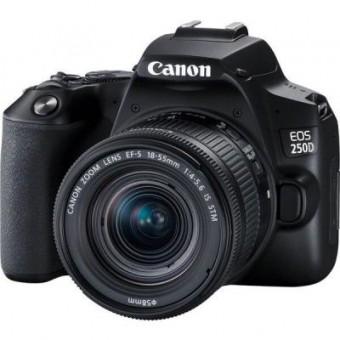 Зображення Цифрова фотокамера Canon EOS 250 D kit 18 55 IS STM Black