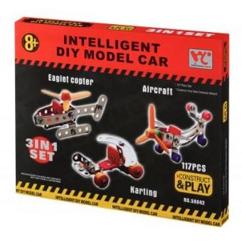 Изображение Конструктор Same Toy Конструктор  Inteligent DIY Model Car 3в1 117 эл. (58042Ut)
