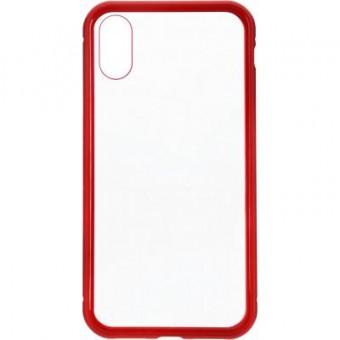 Изображение Чехол для телефона Armorstandart Magnetic Case 1 Gen. iPhone XS Clear/Red (ARM53388)