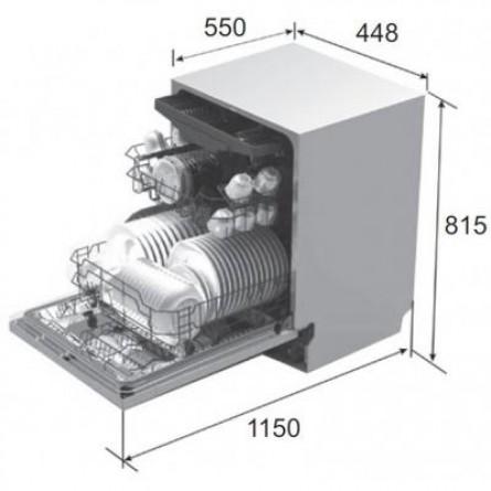 Зображення Посудомийна машина Pyramida DWP 4510 - зображення 4